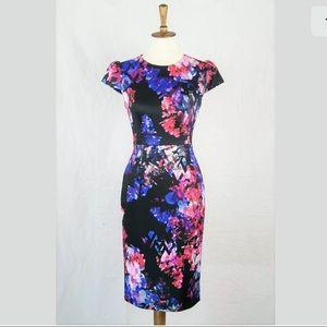 ❌SOLD❌Betsey Johnson Floral Scuba Midi Dress